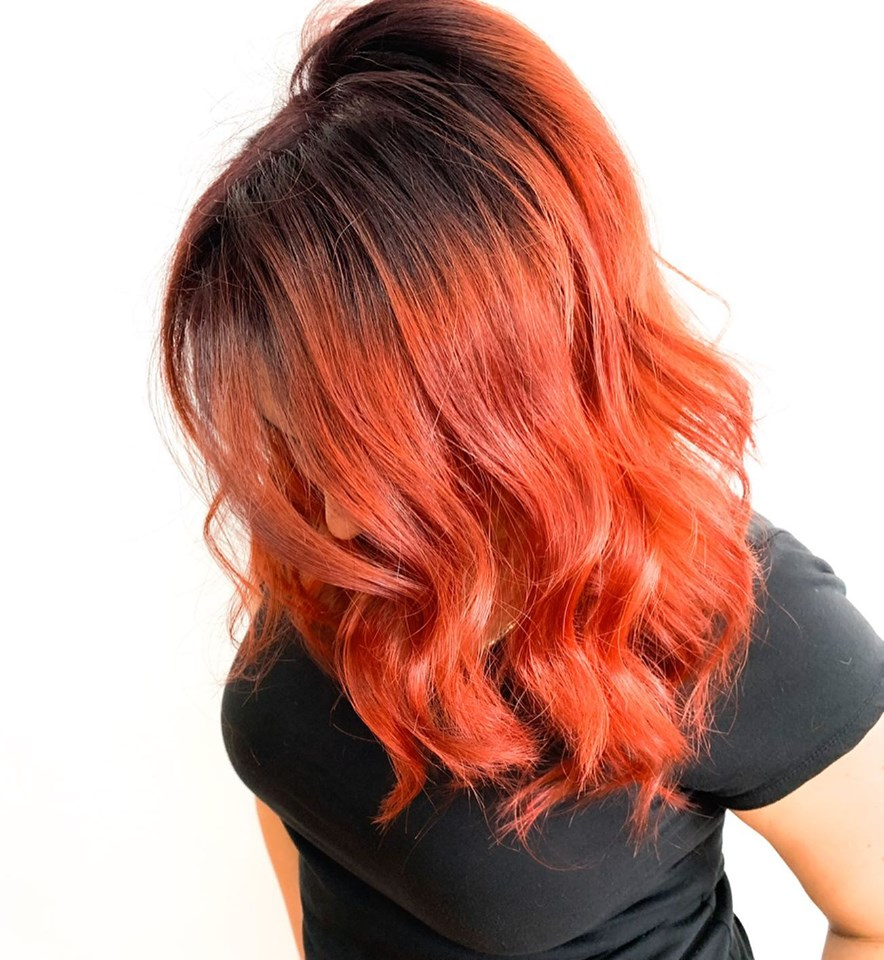 beautiful hair color for fall season in cocoa beach florida