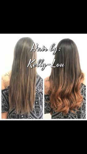 BALAYAGE AND ROSE GOLD HAIR COLOR AT BEAUTY  THE BARBER SALON IN COCOA BEACH FLORIDA