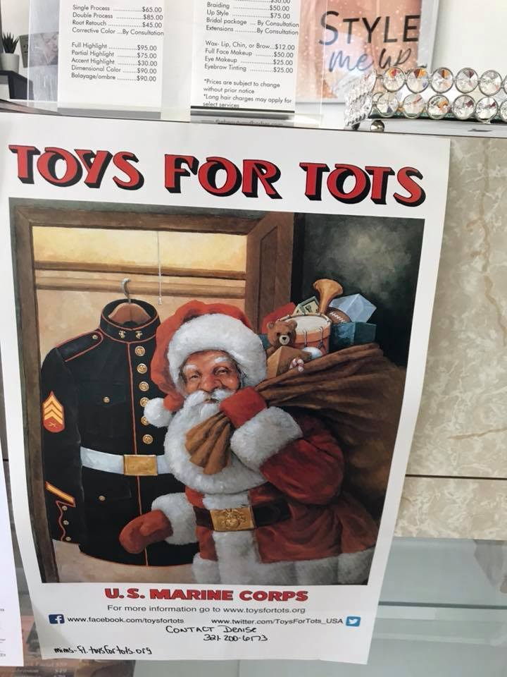 TOYS FOR TOTS IN COCOA BEACH FLORIDA