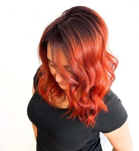 Amazing hair color for fall season in cocoa beach