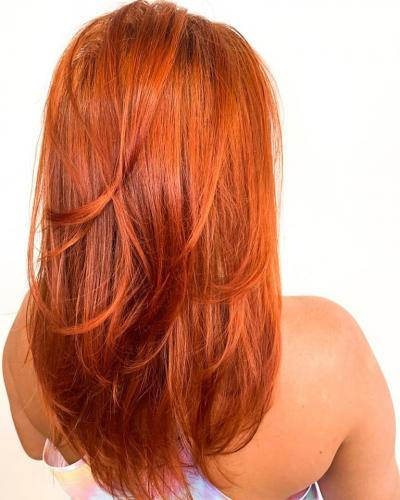 Beautiful hair color in Cocoa Beach hair salon