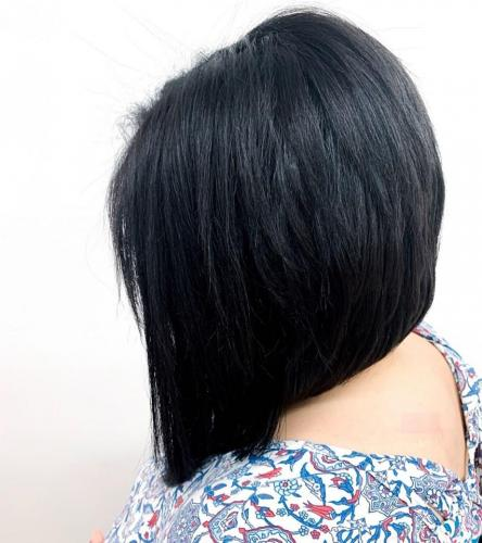 Black hair color in cocoa beach hair salon