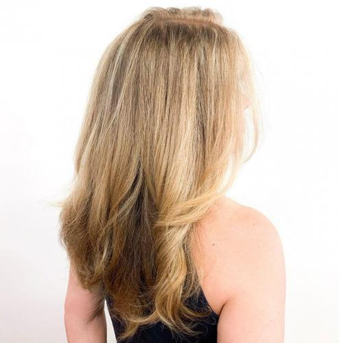 Blond hair color style in cocoa beach florida