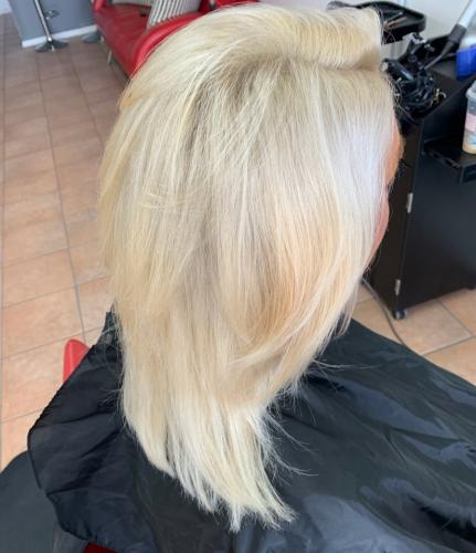 Cool Blonde Hair Color in Cocoa Beach hair salon