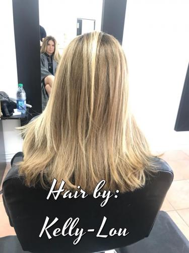 FREE HAND BALAYAGE TECHNIQUE AND BLOND HAIR COLOR AT BEAUTY  THE BARBER SALON IN COCOA BEACH FLORIDA