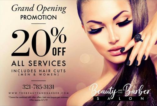 HAIR SALON PROMOTION AND DISCOUNT IN COCOA BEACH FLORIDA