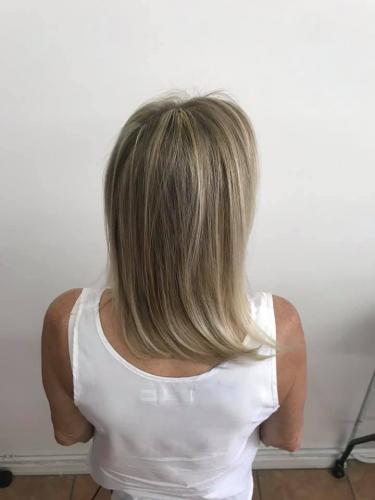 Hair highlight, gloss  trim at Beauty  The Barber hair salon in Cocoa beach