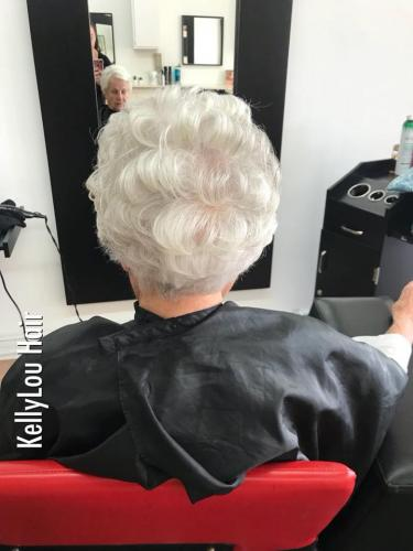 WOMAN HAIRCUT FOR HER 96 YEAR OLD BIRTHDAY IN COCOA BEACH